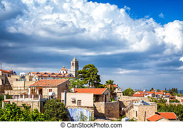 Traditional picturesque mountain village of Pano Lefkara. Larnaca district, Cyprus