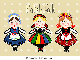 Traditional Polish Costume - Vector. - Traditional Polish...