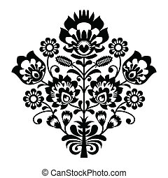 Traditional polish folk pattern - Decorative folk vector ...
