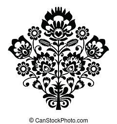 Traditional polish folk pattern - Decorative folk vector ...