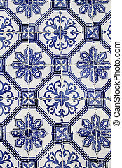 traditional portuguese ceramic tiles background