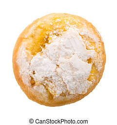 Traditional Portuguese coconut pastry called Pao de Deus