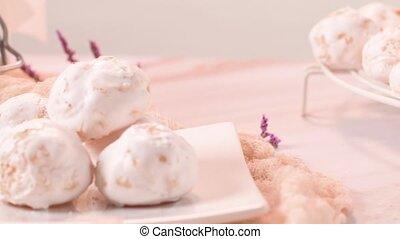 Traditional portuguese sweets beijinhos, regional sweet from...