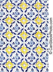 traditional Portuguese tiles (azulejos)