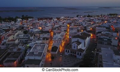Traditional portuguese town of Olhao da Restauracao next to...