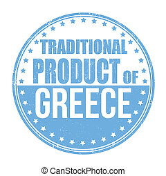Traditional product of Greece stamp