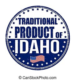 Traditional product of Idaho stamp