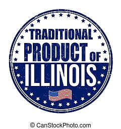 Traditional product of Illinois stamp