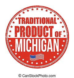 Traditional product of Michigan stamp