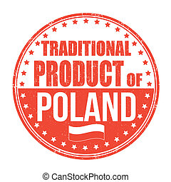 Traditional product of Poland stamp - Traditional product of...
