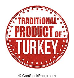 Traditional product of Turkey stamp