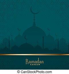 traditional ramadan kareem mosque festival background design