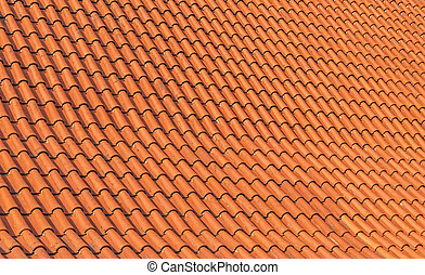 Traditional red clay tile roof background.