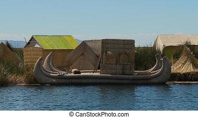 Traditional Reed Boat At Uros Island, Peru - Medium...