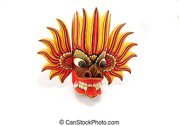 Traditional religious colorful  mask of Sri Lanka