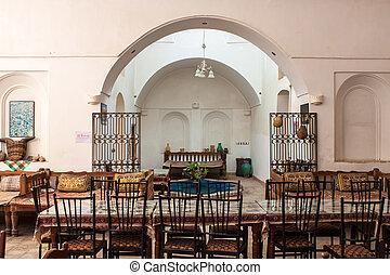 Traditional restaurant in Yazd, Iran.