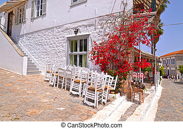 traditional road at Hydra island Saronic Gulf Greece - famous greek summer destination