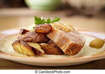 Traditional roast pork