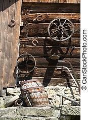 Traditional rural farmhouse in Poland