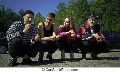 Traditional russian folks, alcoholics, bad people, hooligans...