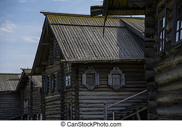 Traditional Russian house on the island of Kizhi, Karelia