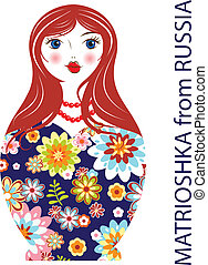 Traditional Russian matryoshka matrioshka doll
