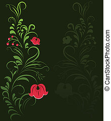 Traditional Russian ornament background with copy space.