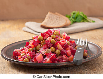 salad of beetroot - Traditional Russian salad of beetroot