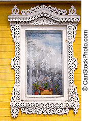 Traditional Russian window