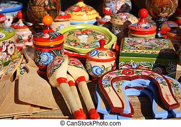 Traditional Russian wooden souvenir