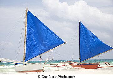 Traditional Sailboats on Boracay
