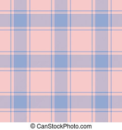 Traditional Scottish tartan pattern in both rose quartz and serenity color of the year 2016 made seamless