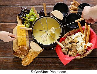 set of utensils for fondue - Traditional set of utensils for...