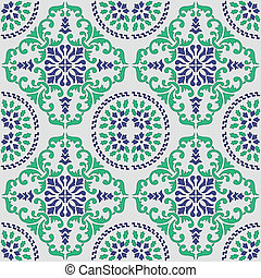 traditional sicilian pattern - seamless vector pattern made ...
