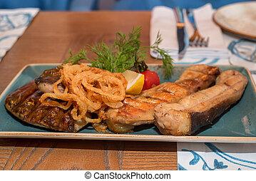 Fried freshwater catfish