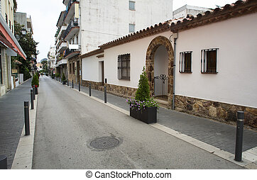 Traditional spanish town street
