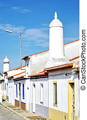 traditional street in south of Portugal