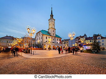 Traditional street market in Gliwice, Poland. Europe