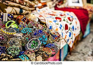 Traditional street market in Jerusalem, Israel.