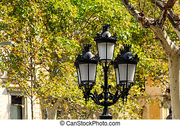 Traditional Streetlight in Spain