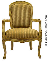 Accent Chair - Traditional Style Accent Chair in Gold Finish
