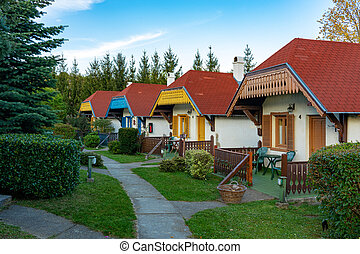 traditional style hungarian village in Velem Novakfalva