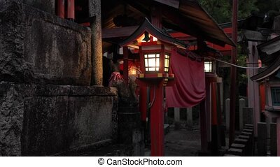 Traditional style Japanese lantern - Japanese lantern in a...