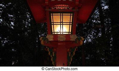 Traditional style Japanese lantern - Japanese lantern in a...