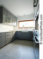 Traditional style of cozy kitchen