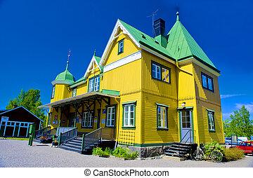 Sweden wooden house