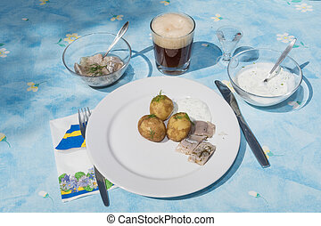 Traditional swedish midsummer dish