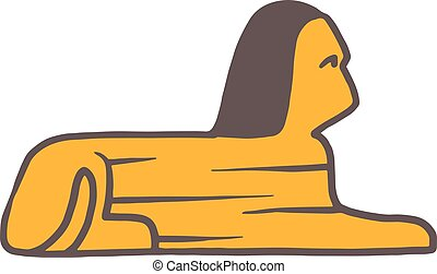 Traditional symbols of Egypt Sphinx head vector.