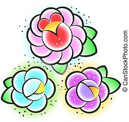 traditional tattoo flower