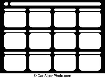 Traditional television 12 frame storyboard black -...